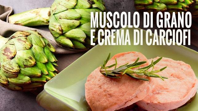 Un pranzo di pasqua Fit: arrosto di Muscolo di Grano con crema di carciofi